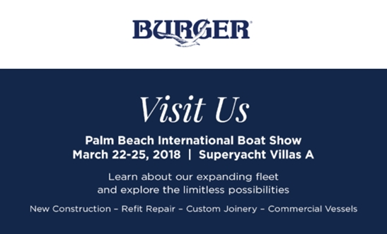 Image forBurger Boat Company at Palm Beach International Boat Show