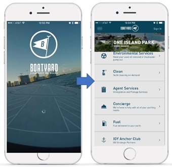 Image forIGY MARINAS PARTNERS WITH INNOVATIVE BOATING SERVICE APPLICATION, BOATYARD