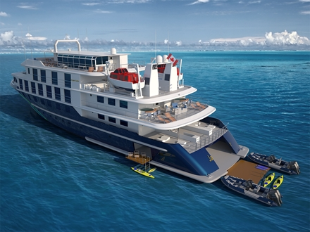 Image for180 ft. (55m) mini cruise ship under construction