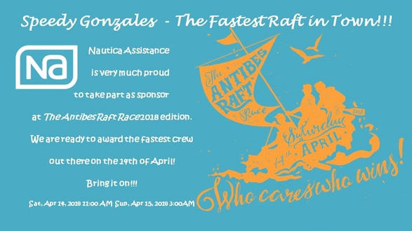 Image forThe Speedy Gonzales Award at the Antibes Raft race