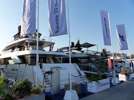 Image forFerretti Group has chosen Marina Ibiza  for the première of  Navetta 33