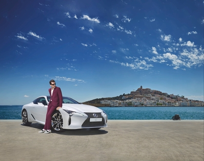 Image forLexus chooses Marina Ibiza as the stage to launch the LC, starring Mark Ronson