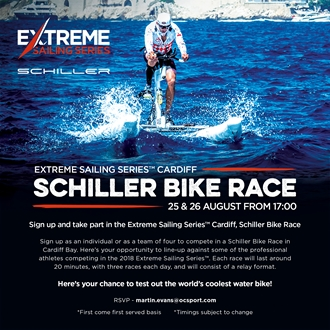 Image forSchiller Water Bike Races at the Extreme Sailing Series™ Cardiff