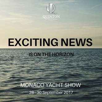 Image forEXCITING NEWS ON THE HORIZON FROM QUINTON AT MYS 2017