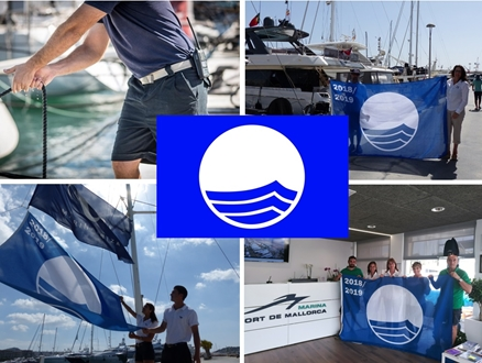 Image forBlue Flag will fly one more year in  Marina Port de Mallorca, Marina Palma Cuare