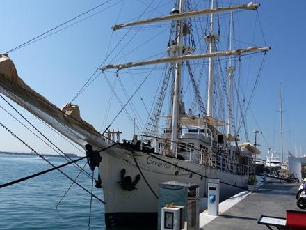 Image forThe school vessel Cervantes Saavedra in Marina Palma Cuarentena